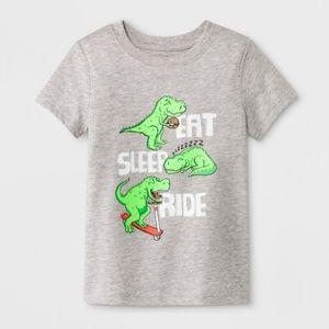 Cat & Jack Eat Sleep Ride Dino Tee Shirt 2T
